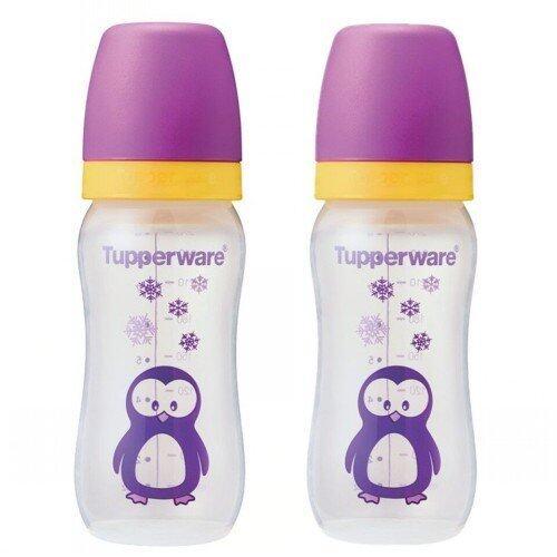Tupperware BPA FREE Baby Bottle 9oz (2) Penguin