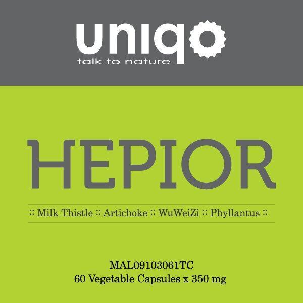 Uniqo Hepior Liver Tonic Vegetable Capsules x 350mg