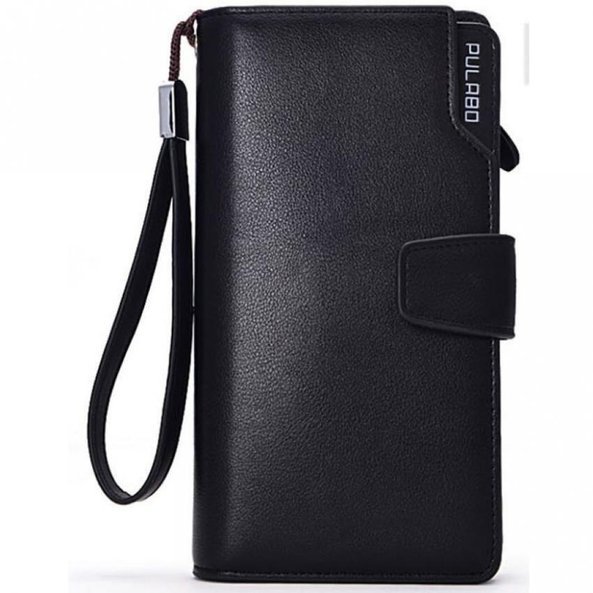 Unisex Wallet Pulabo Leather Zipper Long  Black