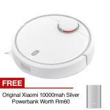 Xiaomi Mijia Smart Robot Vacuum Cleaner Wifi App Remote Control Wireless Cleaning Mi iRobot Ecovacs + FREE Original Xiaomi Powerbank 10000mah Silver
