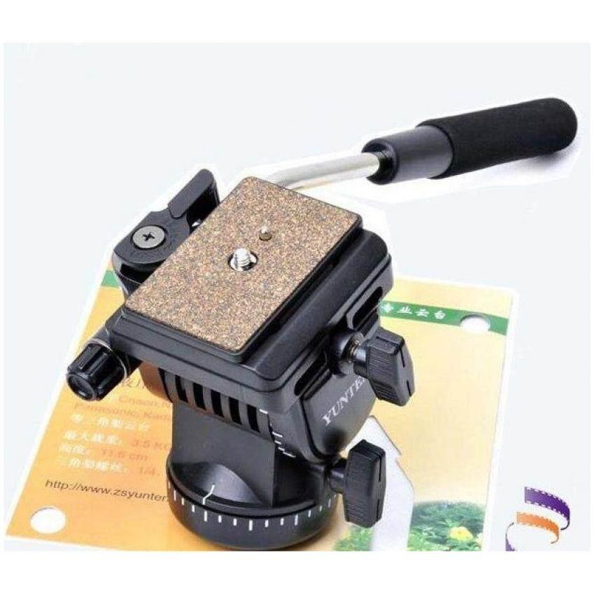 Yunteng YT-950 Fluid Drag Head For Video Studio Camera Tripod Head Action 2 Plates