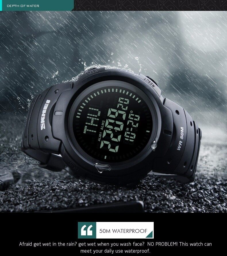 New Brand Outdoor Sports Compass Watches Hiking Men Watch Digital Led Electronic Watch Man Sports Watches Chronograph Men Clock And To Have A Long Life. Digital Watches Watches