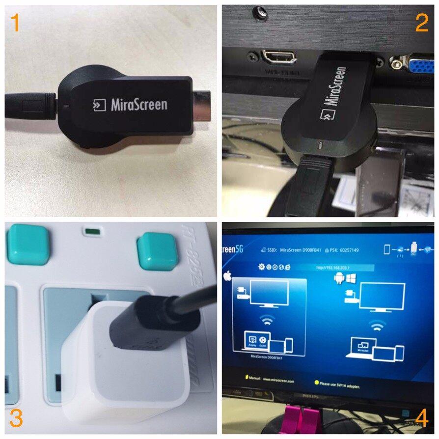 Generic HDMI Dongle Adapter USB Cable 1080P MiraScreen TV