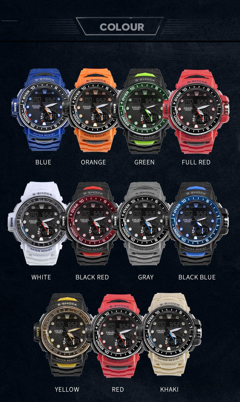 Smael SMAEL 1626 Watch Men LED Digital Sport Watch for Man Clock S ... 92f689d825d