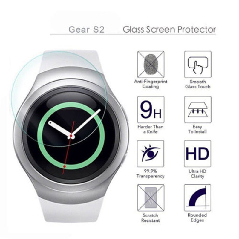 0.03CM Thickness Tempered Glass Screen Protector For Samsung Gear S2 Smartwatch - 2 .