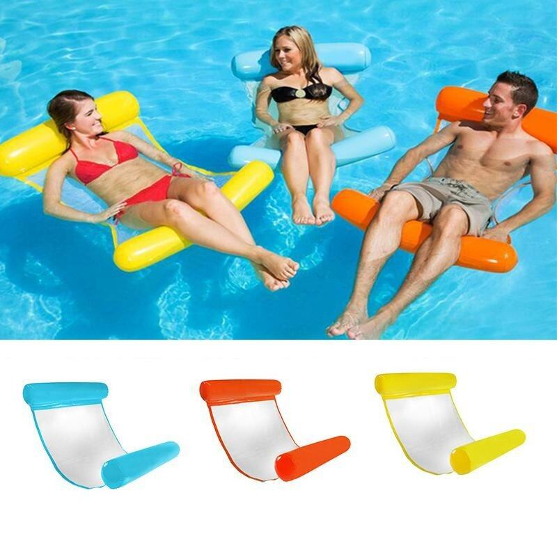 Hình ảnh CENBLUE Summer Outdoor Swimming Adult Water Floating Bed Inflatable Floating Water On The Recliner Water Cushion Bed Sofa Bed + Air Pump(5 Colors)